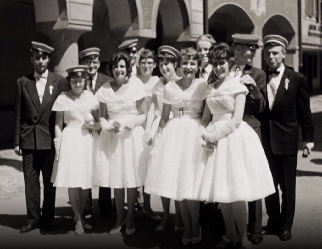 Zentralfest 1960 in Wil - Gundoldinger mit Ehrendamen
