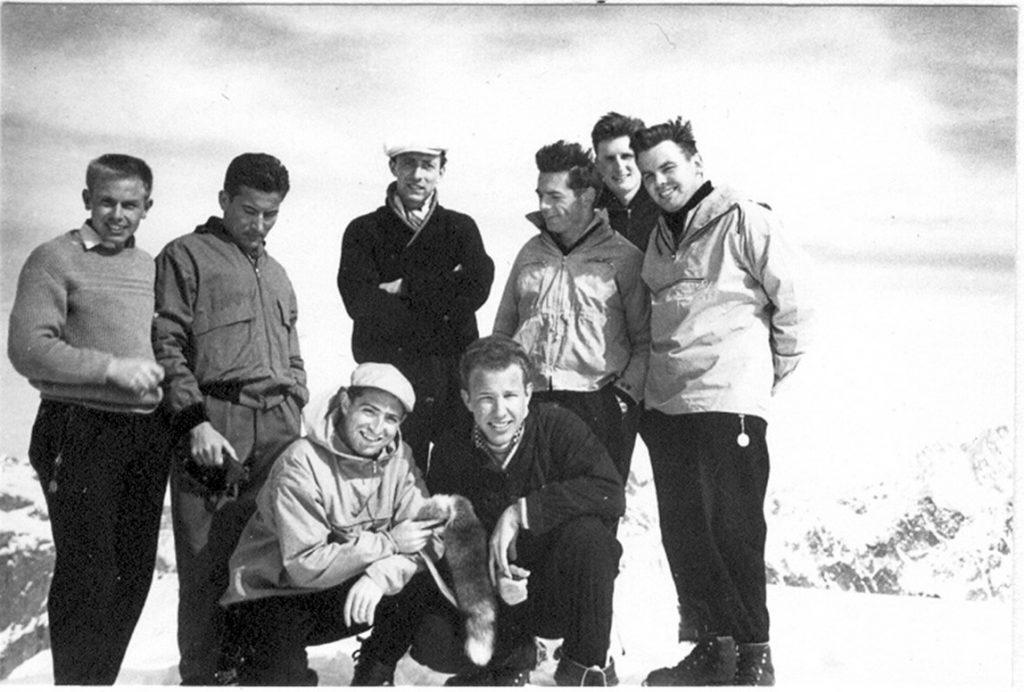 erste Fuchsenbummel 1959 - Skitour auf Titlis - FM Nero & FM in spe Tasso & Gast Kito
